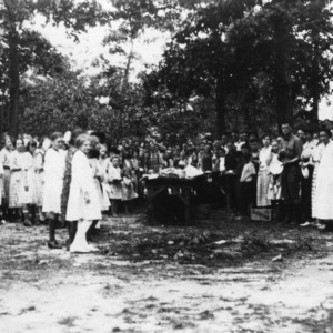 4-H club members attending the Catawba County Encampment near Ball's Creek, North Carolina