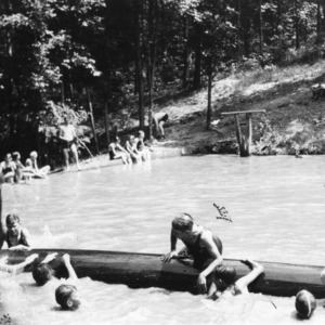"""The Ole Swimming Hole"" at the Guilford-Rockingham 4-H Camp held at the Rockingham playground"