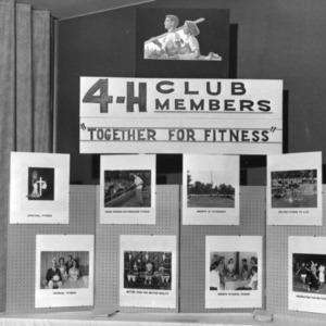 4-H club display demonstrating fitness