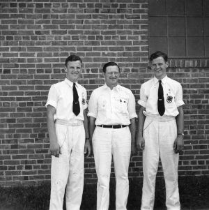 Winners of 1940 dairy production contest at North Carolina State 4-H Short Course, North Carolina State College, July, 1940