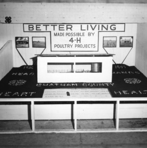 Chatham County 4-H poultry display, 1947