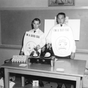Buncombe County 4-H Club poultry demonstration team, 1957