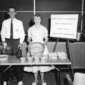Chowan County 4-H Club poultry demonstration team, 1957