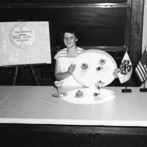 4-H club girl giving a dairy foods demonstration