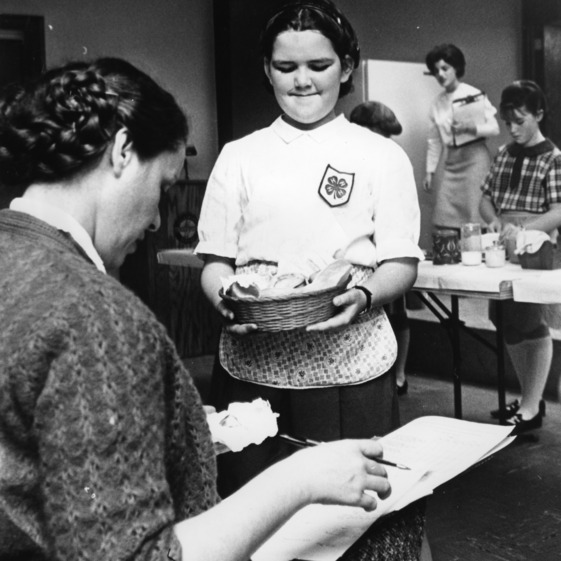 Eva Arty participating in a 4-H baking contest in Salisburg, North Carolina