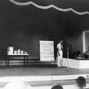 Edgecombe County 4-H Club home beautification demonstration, North Carolina State 4-H Short Course, 1938