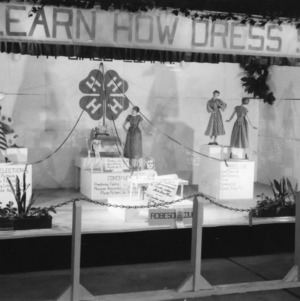 4-H exhibit at the North Carolina State Fair in Raleigh, North Carolina, teaching how to shop for dresses.