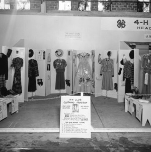 An exhibit of the 4-H club clothing program at the North Carolina State Fair in Raleigh