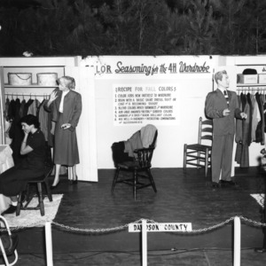 An exhibit on how to select a wardrobe from the Davidson County 4-H Clubs at the North Carolina State Fair in Raleigh