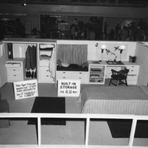 4-H exhibit of built-in storage in a bedroom at the North Carolina State Fair in Raleigh
