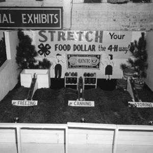 4-H exhibit on preserving food through freezing, canning, and storing at the North Carolina State Fair in Raleigh