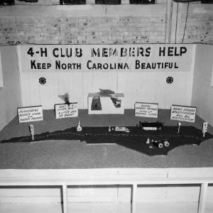 4-H exhibit on keeping North Carolina beautiful at the North Carolina State Fair in Raleigh