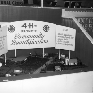 4-H exhibit promoting community beautification at the North Carolina State Fair in Raleigh
