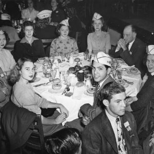 4-H Club delegates attending the Sears-Roebuck Foundation Breakfast at the Stevens Hotel, Chicago during the National 4-H Club Congress, December 4, 1945