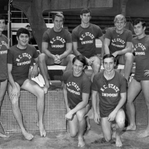 Members of the N. C. State 1971 swim team