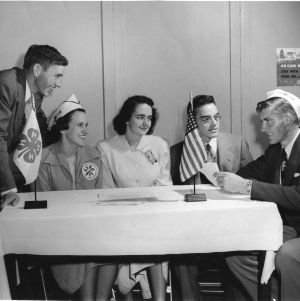 National winners from southern states taking part in special progressive farmer session at the 1950 National 4-H Club Congress in Chicago