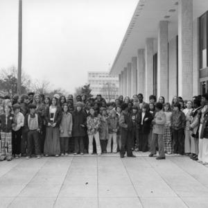 Wayne County 4-H Club members visiting the Legislative Building in Raleigh, North Carolina