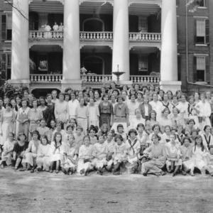 4-H club members attending North Carolina State 4-H Short Course at North Carolina State College