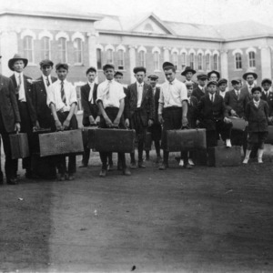 Club members attending the 4-H Boys' Short Course at State College in 1917