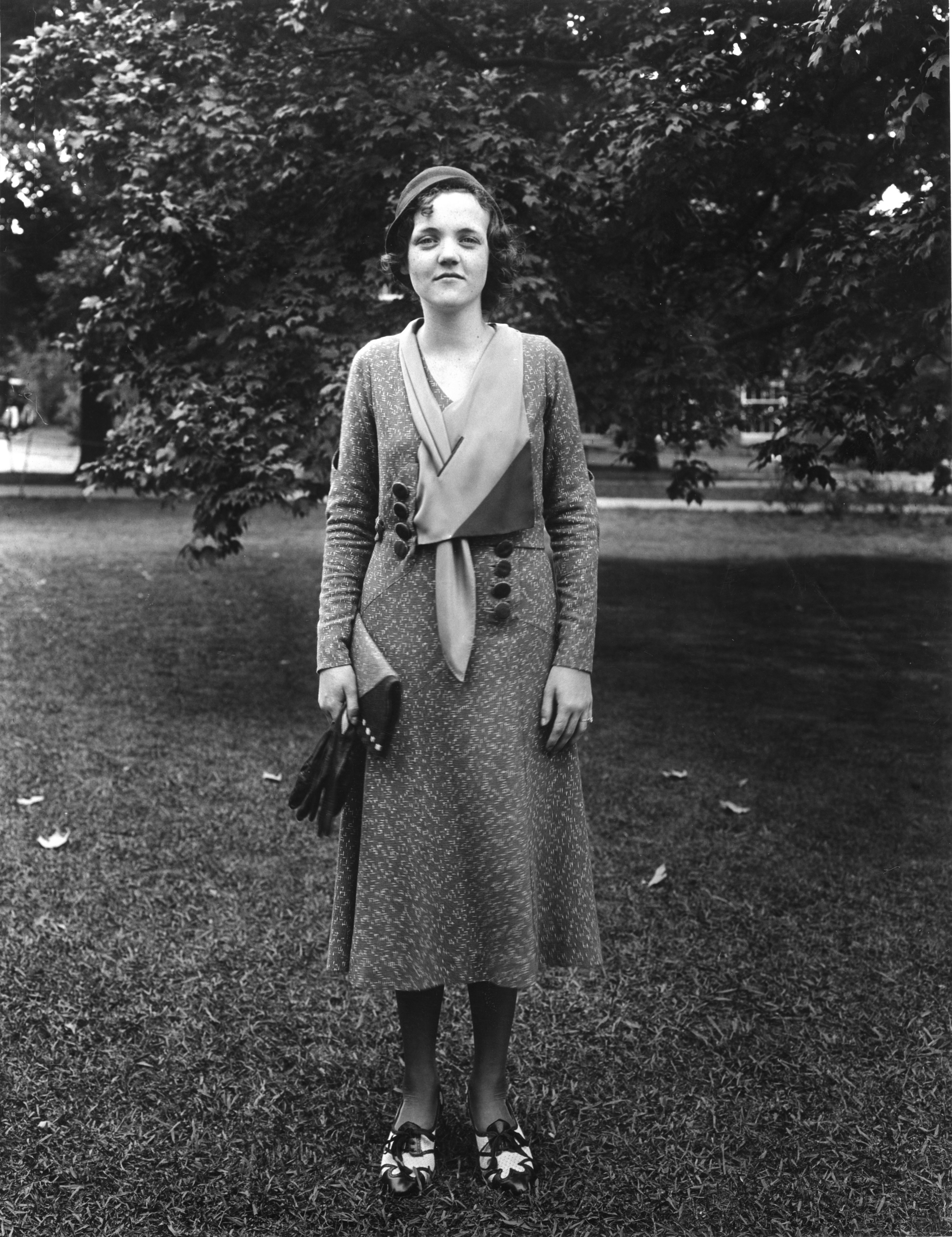 Gladys Vestal (Smith) at North Carolina State 4-H Short Course, 1932