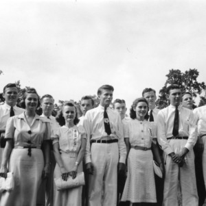 4-H club members attending North Carolina State 4-H Short Course at North Carolina State College, July 1941