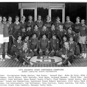 Atlantic Coast Conference Champions N. C. State Swim Team, 1972