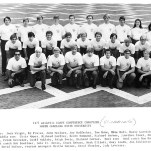 Atlantic Coast Conference Champions N. C. State Swim Team, 1973
