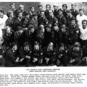 Atlantic Coast Conference Champions N. C. State, 1974