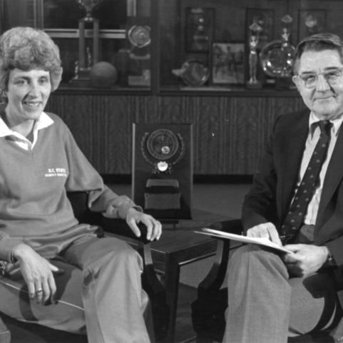 Kay Yow with William C. Friday