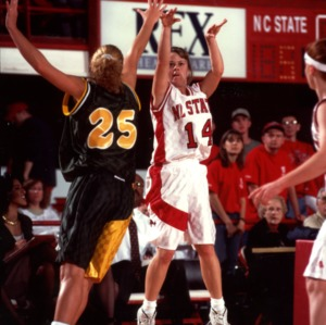 Jump shot from N.C. State's #14 Jennifer Howard