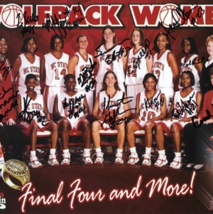 1998-1999 N.C. State University women's basketball -- Wolfpack's poster for Final Four games