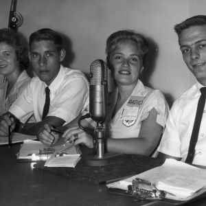 Radio broadcasters at North Carolina State 4-H Club Week