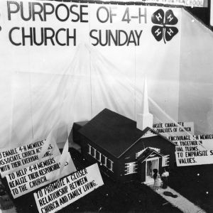 4-H citizenship program exhibit on the purpose of 4-H Church Sunday at the North Carolina State Fair in Raleigh