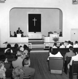 4-H club members attending a church service as part of 4-H church Sunday