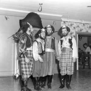 Four 4-H club members dressed as pirates singing in a performance as part of the 4-H communication and art program