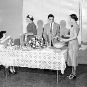 4-H club members demonstrating a formal party