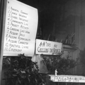 Union County 4-H display in March of 1954