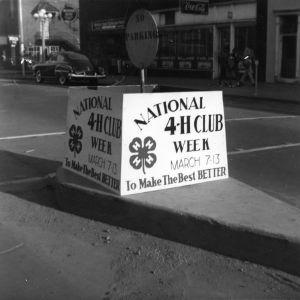 4-H club display advertising National 4-H Club Week, March 7-13, 1953