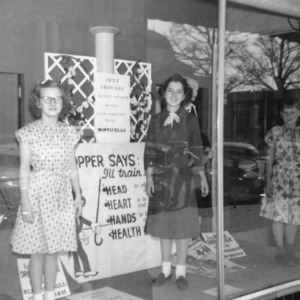 Monticello Club Window Dress Revue in Belk's Store Statesville, one hour each day for six days