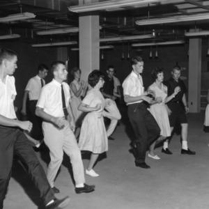 4-H club members dancing a line dance