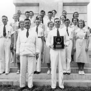 4-H club holding the award for the Best County Record while at the 1937 North Carolina State 4-H Short Course