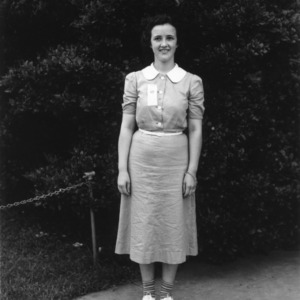 4-H club project and demonstration winner attending the 1938 North Carolina State 4-H Short Course