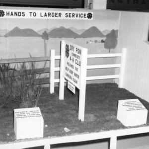 4-H club exhibit on keeping North Carolina clean