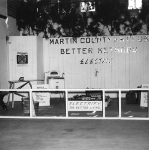 "Martin County, North Carolina State 4-H Club exhibit, ""Better Methods, Elect NC,"" at North Carolina State Fair"