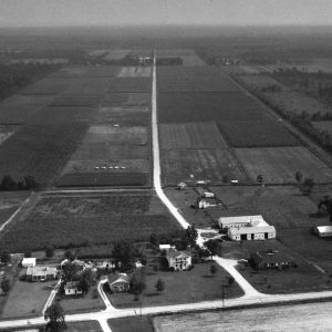 Aerial view of Agricultural Research facility
