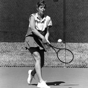 NC State women's tennis player Anne Marie Voorheis