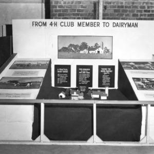 4-H club exhibit explaining how to be a dairyman