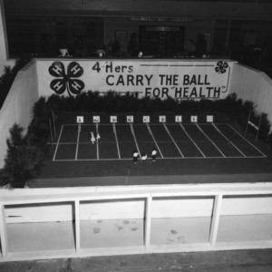 4-H health exhibit at the North Carolina State Fair in Raleigh, showing a football field