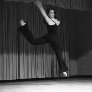 4-H club girl dancing in a statewide 4-H talent show competition