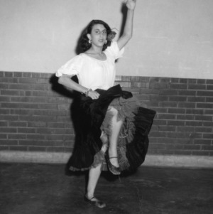 4-H club girl performing a dance at Club Week at North Carolina State College in Raleigh